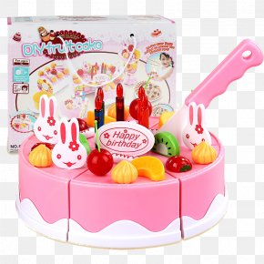 Female Baby Birthday Gift Children's Educational Toys Force Combination Of Equipment - Birthday Cake Fruitcake Toy Play PNG