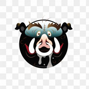Round Nose With Nose Material - Domestic Pig Nose Cartoon Face PNG