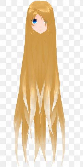 Long Hair - Long Hair MikuMikuDance Hairstyle Download PNG