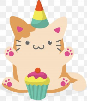 Lovely Cat For Birthday PNG