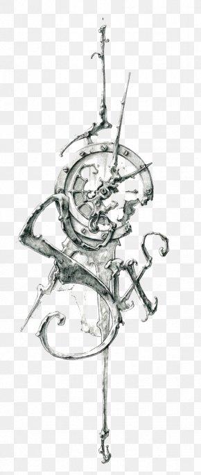 Retro Clock - Tattoo Clock Drawing Work Of Art Sketch PNG