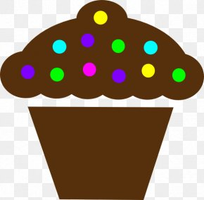 Color Moving Polka Dot - Cupcake Frosting & Icing Muffin Birthday Cake Clip Art PNG
