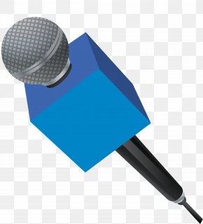 Vector Hand-painted Microphone - Journalism Journalist Download PNG