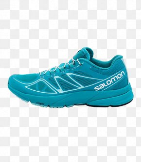SALOMON Running Shoes - Salomon Group Shoe Blue Teal Sneakers PNG