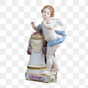 Porcelain Figurine Woman Playing Cards - Meissen Porcelain Figurine 19th Century Statue PNG
