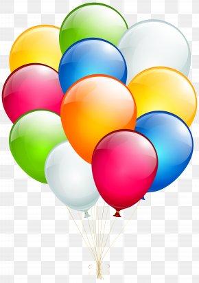 Balloons Transparent Clip Art - Balloon Birthday Wish Greeting Card Clip Art PNG