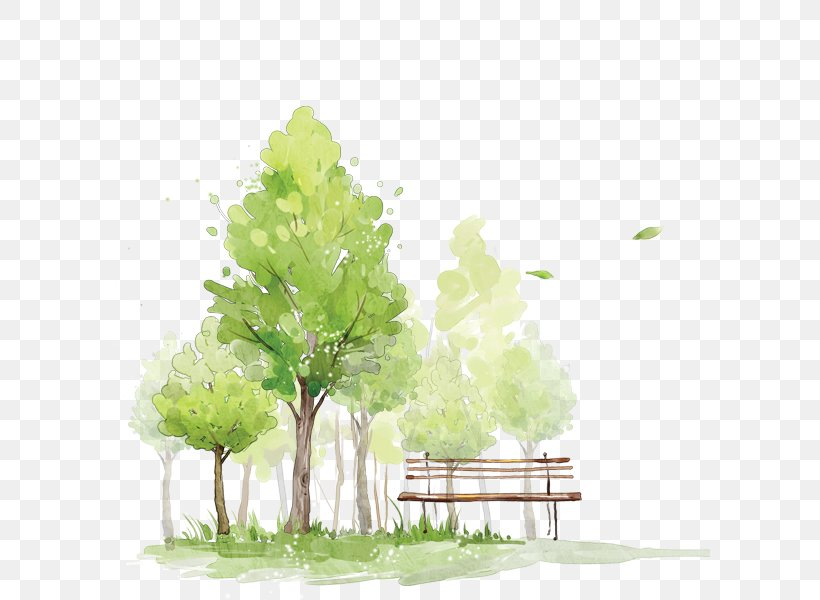 How To Paint Trees In Watercolor Watercolor Painting Sketch, PNG, 600x600px, How To Paint Trees In Watercolor, Branch, Digital Media, Floral Design, Grass Download Free