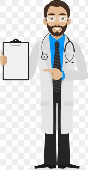 Cartoon Male Doctor - Scientist Royalty-free Euclidean Vector Illustration PNG