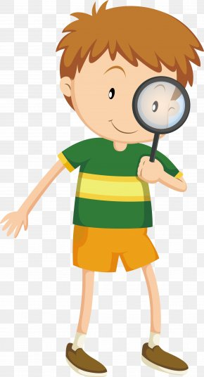 Vector To Take The Magnifying Glass Boy - Magnifying Glass Download PNG