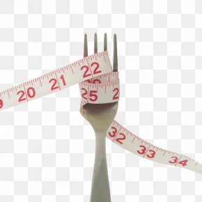 Surrounded Ruler Fork - Eating Disorder Overweight Health Anorexia Nervosa PNG