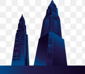Blue Skyscrapers Vector Material - Euclidean Vector Blue Icon PNG