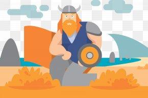 Retro Warrior Vector - Euclidean Vector Viking Illustration PNG