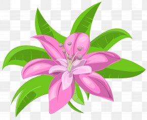 Pink Exotic Flower Image - Flower Clip Art PNG