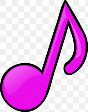 Pink Note - Musical Note Eighth Note Clip Art PNG