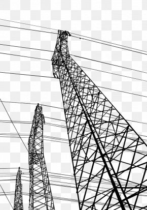 Hand Painted High Voltage Lines - Electricity High Voltage Electric Power Transmission PNG