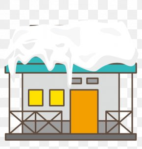 Vector Colored Houses Roof Snow - Roof House PNG