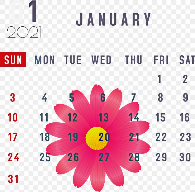 January January 2021 Printable Calendars January Calendar, PNG, 2750x2712px, January, Calendar System, Flower, Google Nexus, January Calendar Download Free