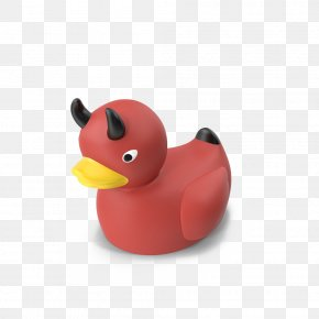 Devil Rubber Duck - Rubber Duck Natural Rubber PNG