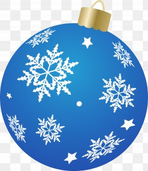 Snowflake - Christmas Ornament Christmas Decoration Cobalt Blue Snowflake PNG