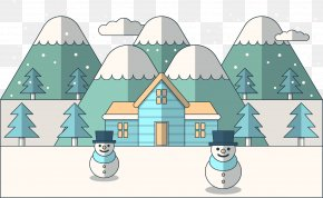 Vector Cartoon Winter Snow - Snowman Euclidean Vector Winter PNG