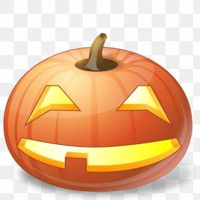Smiling Pumpkins - Halloween Jack-o'-lantern Pumpkin Icon PNG
