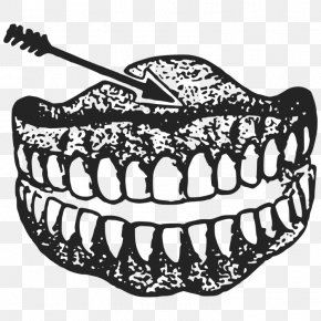 Tooth Clipart Drawing - Clip Art Black And White Drawing Human Tooth Vector Graphics PNG
