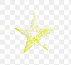 Snow Decoration Yellow Star - Yellow Snow PNG