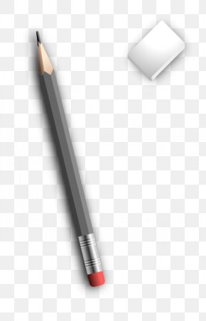 Vector Pencil And Eraser - Ballpoint Pen Pencil Eraser PNG