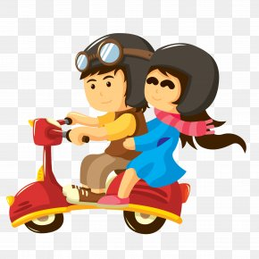 Cycling Couple - The Bestseller Love Happiness Quotes Party Marriage PNG