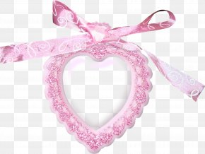 Pink Ribbon Heart Frame - Pink Ribbon Shoelace Knot Download PNG