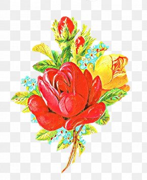 Bouquet Artificial Flower - Valentines Day Background PNG