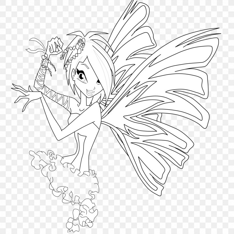 Winx Club Believix In You Flora Drawing Line Art Sirenix Png