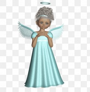 Cute 3D Angel With Light Green Dress Picture - Angel Cherub PhotoScape PNG