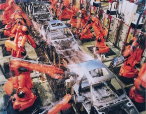 Industrail Workers And Engineers - Industrial Robot Assembly Line Robotics Production Line PNG