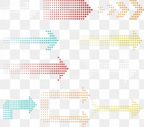 Vector Hand-painted Dotted Arrows - Graphic Design Euclidean Vector PNG