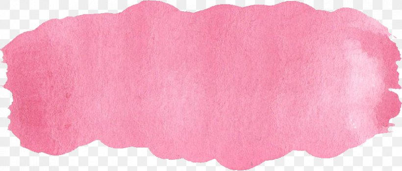 Pink paint brush stroke png