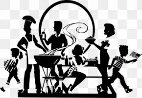 Family Reunion - Barbecue Chicken Grilling Family Clip Art PNG
