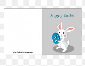 Greeting Cards Pattern - Easter Bunny Easter Postcard Easter Egg Rabbit PNG