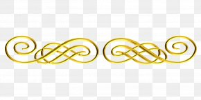 Shiny Border - Colored Gold Image Clip Art PNG