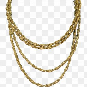 Gold Chain - Earring Chain Necklace Jewellery Gold PNG