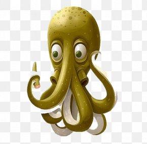 3d Green Octopus - Octopus Illustrator Graphic Design Illustration PNG