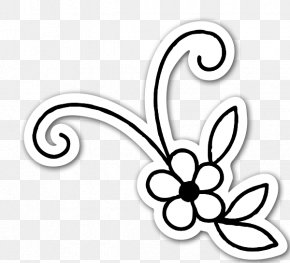 Flower Ornament - Flower Drawing Sticker Clip Art PNG