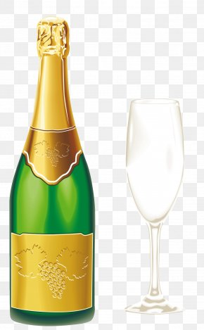Champagne With Glass Clipart - Champagne Glass Wine Clip Art PNG