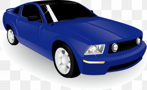 Sports Car Decoration Vector Design - Ford Mustang Sports Car Automotive Design PNG