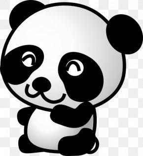 BUNGA - Giant Panda Bear Drawing Cartoon Clip Art PNG