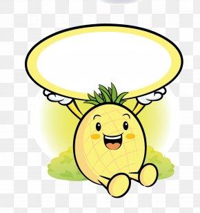 Pineapple Material Cartoon Free To Pull - Pineapple Fruit Mascot Cartoon PNG