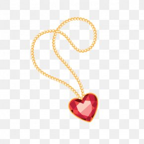 Heart-shaped Diamond Necklace - Diamond Necklace Heart Jewellery Ring PNG