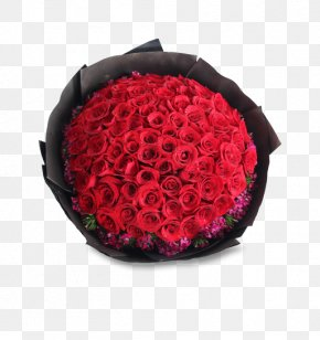 Flowers And A Handful Of Red Roses - Shenyang Garden Roses Flower Bouquet Floristry PNG