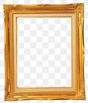 Golden Square Photo Frame - Picture Frame Light PNG