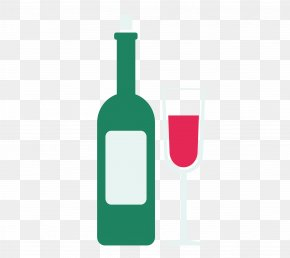 Wine And Goblets Vector Material - Wine Glass Glass Bottle Alcoholic Beverage PNG